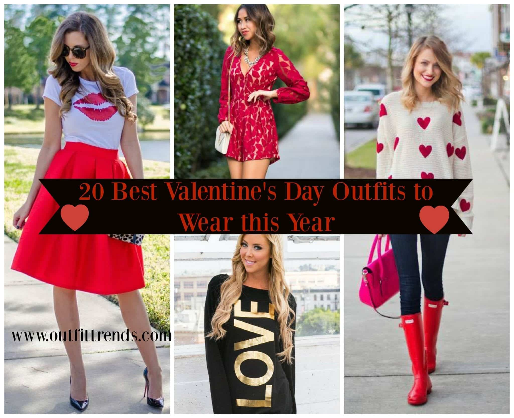 Top 20 Amazing Outfits Ideas For Valentine's Day 2018