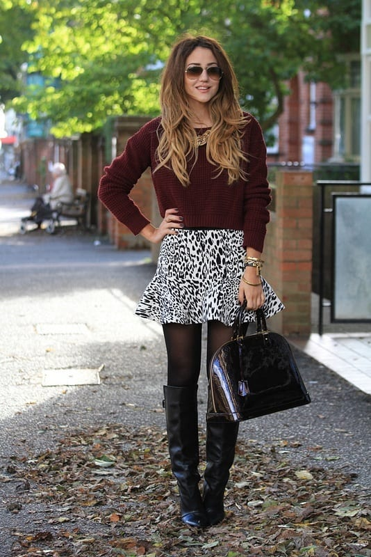 Animal Printed skirts fashion