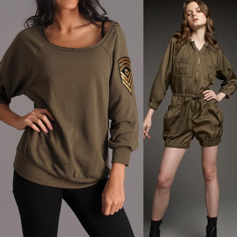 Army-Girls 16 Popular Military Inspired Outfits Fashion Ideas For Women