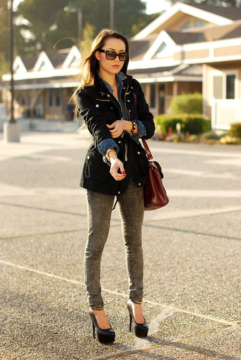Outfits With Denim Jacket 20 Ideas How To Wear Denim Jackets