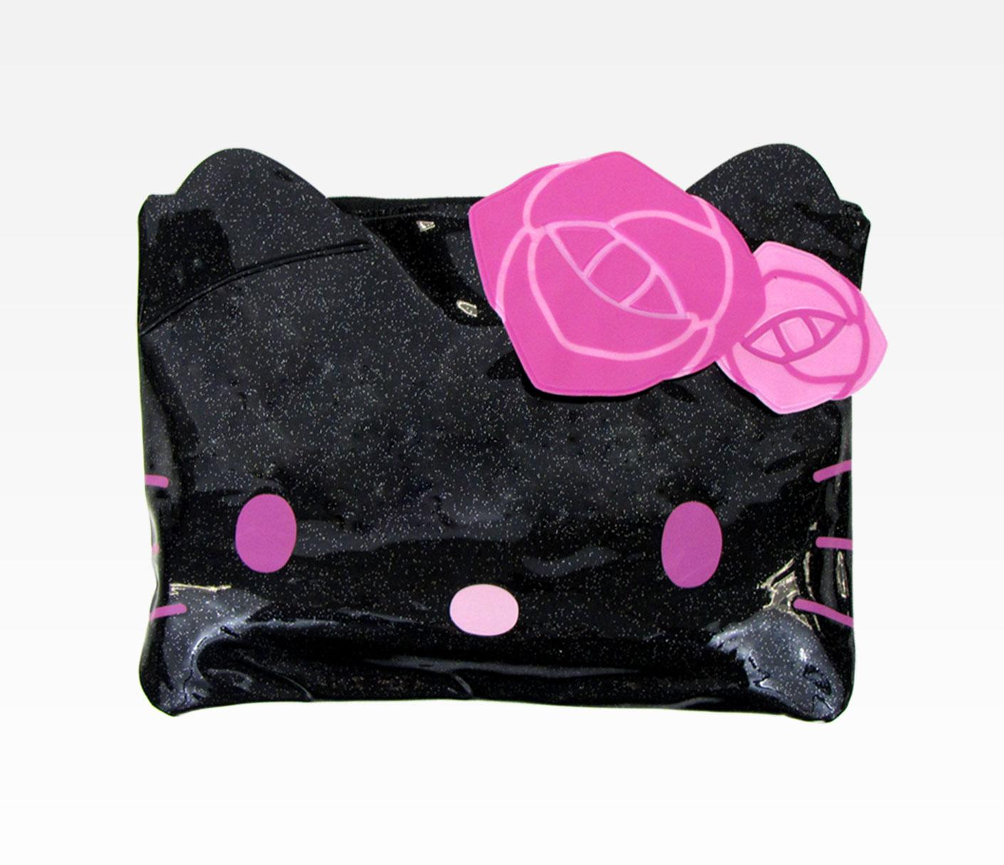 Black-Hello-Kitty-Cosmetic-bags 10 Cute Hello kitty Makeup Bags You must Have
