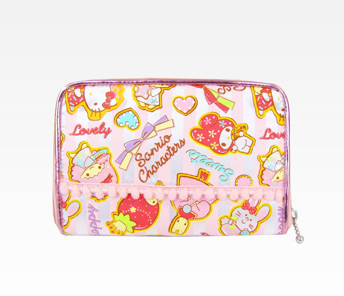 Color-full-cosmetic-bags-for-college-girls 10 Cute Hello kitty Makeup Bags You must Have