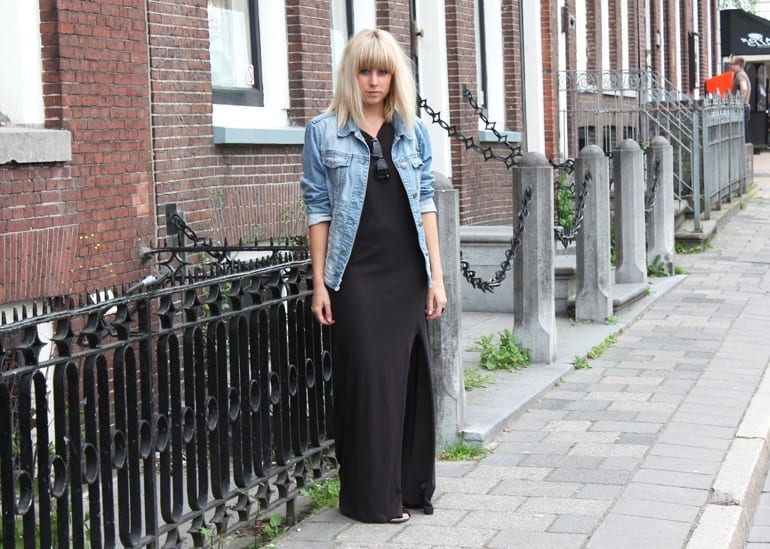 Denim-jackets-with-Skirts Outfits with Denim Jacket-20 Ideas How to Wear Denim Jackets