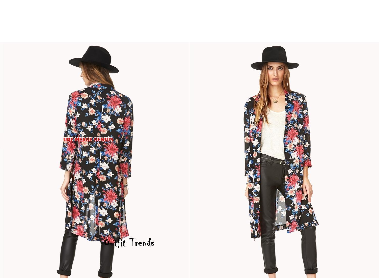 Floral-Chiffon-Cardigan 13 Stylish and Trendy Cardigans Collection for Women