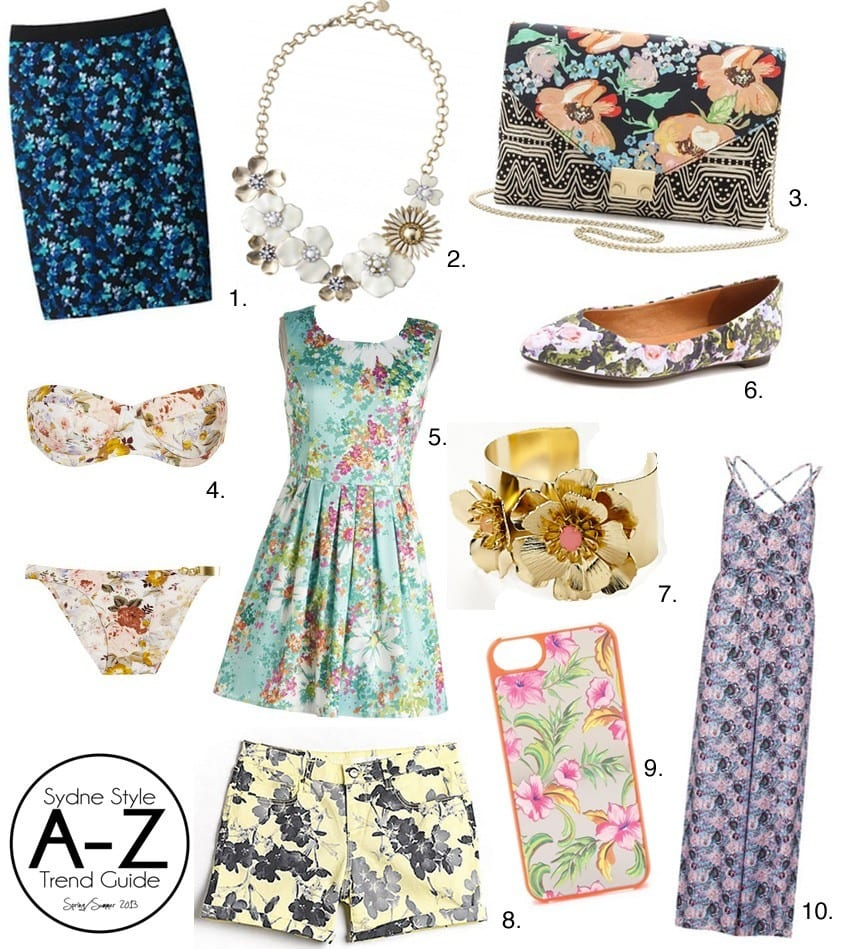 Floral Print Spring summer fashion Trends