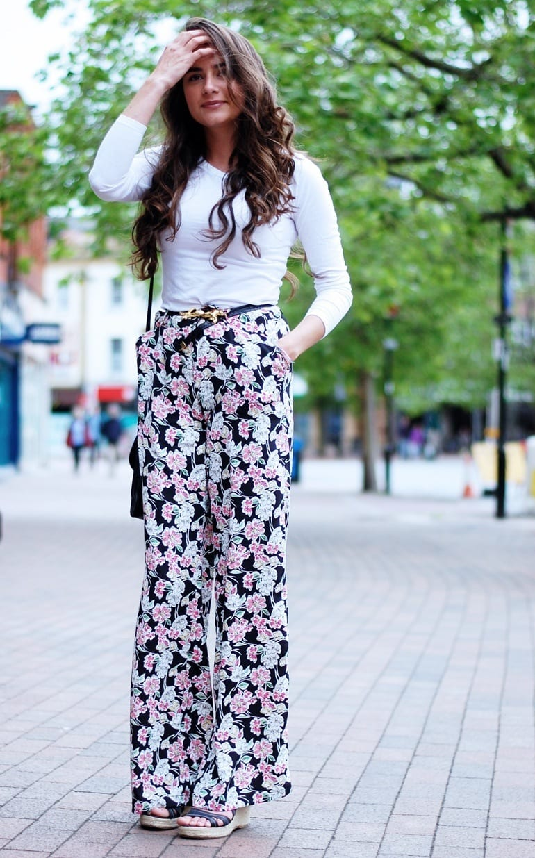 Girls Street Style with floral Print Trouser