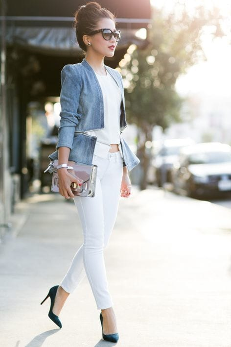 Latest-Designs-in-women-Denim-Jackets Outfits with Denim Jacket-20 Ideas How to Wear Denim Jackets