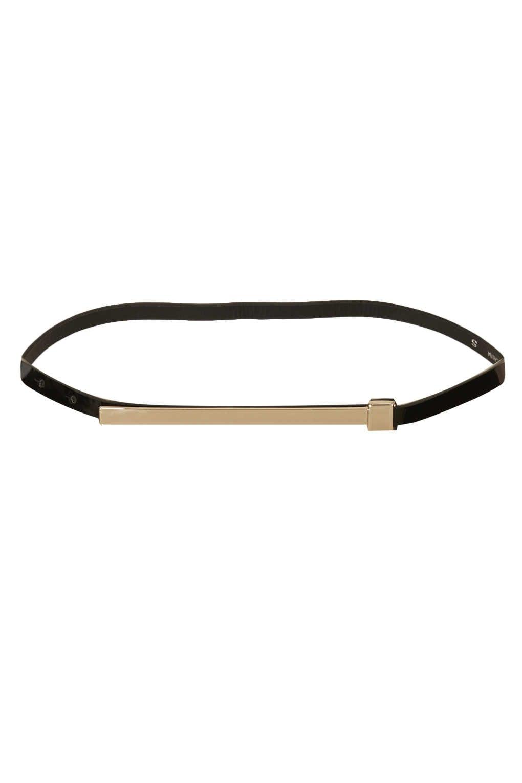 Metal bar belts for women
