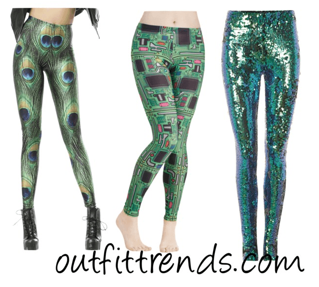 Peacock Print Leggings
