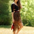 Sexy animal printed skirts