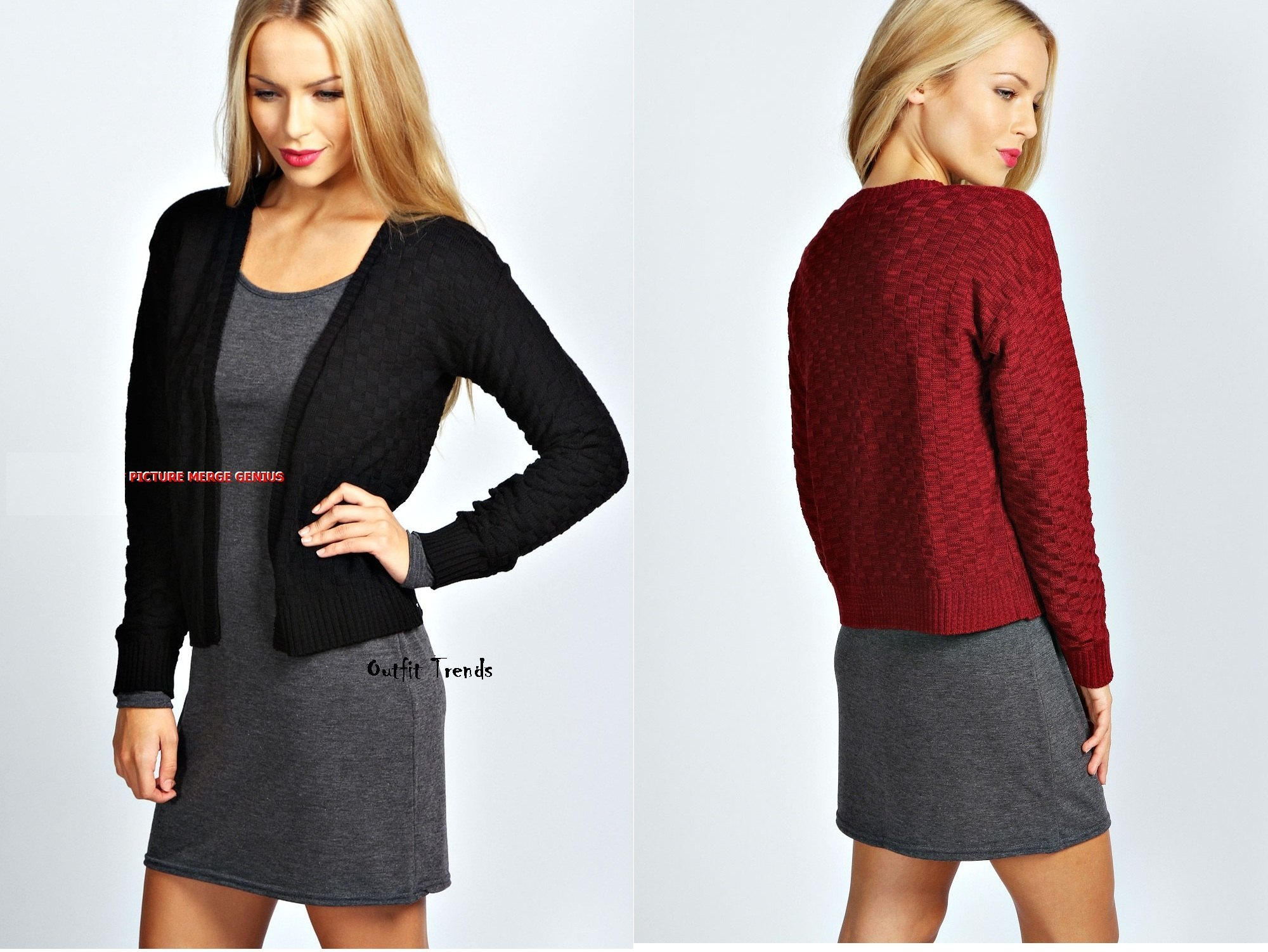 Stylish Black and Red Cardigans