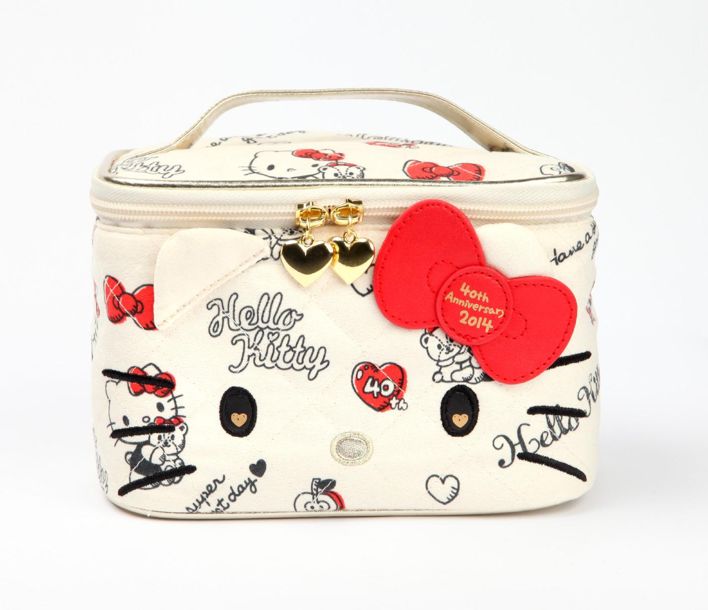 Stylish-Cosmetic-bags-by-hello-kitty 10 Cute Hello kitty Makeup Bags You must Have