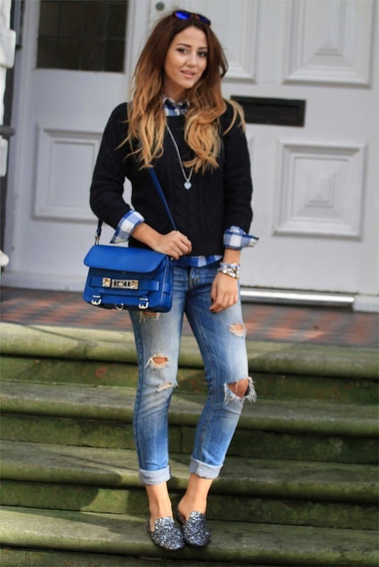 What-to-wear-with-Ripped-Jeans Outfits with Ripped Jeans-15 Ways to Wear Distressed Denims