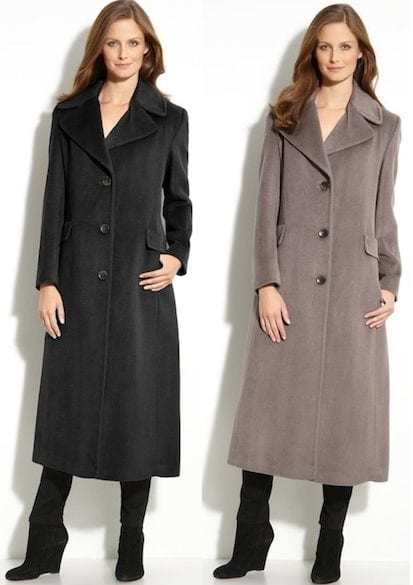 calvin klein long coats for women