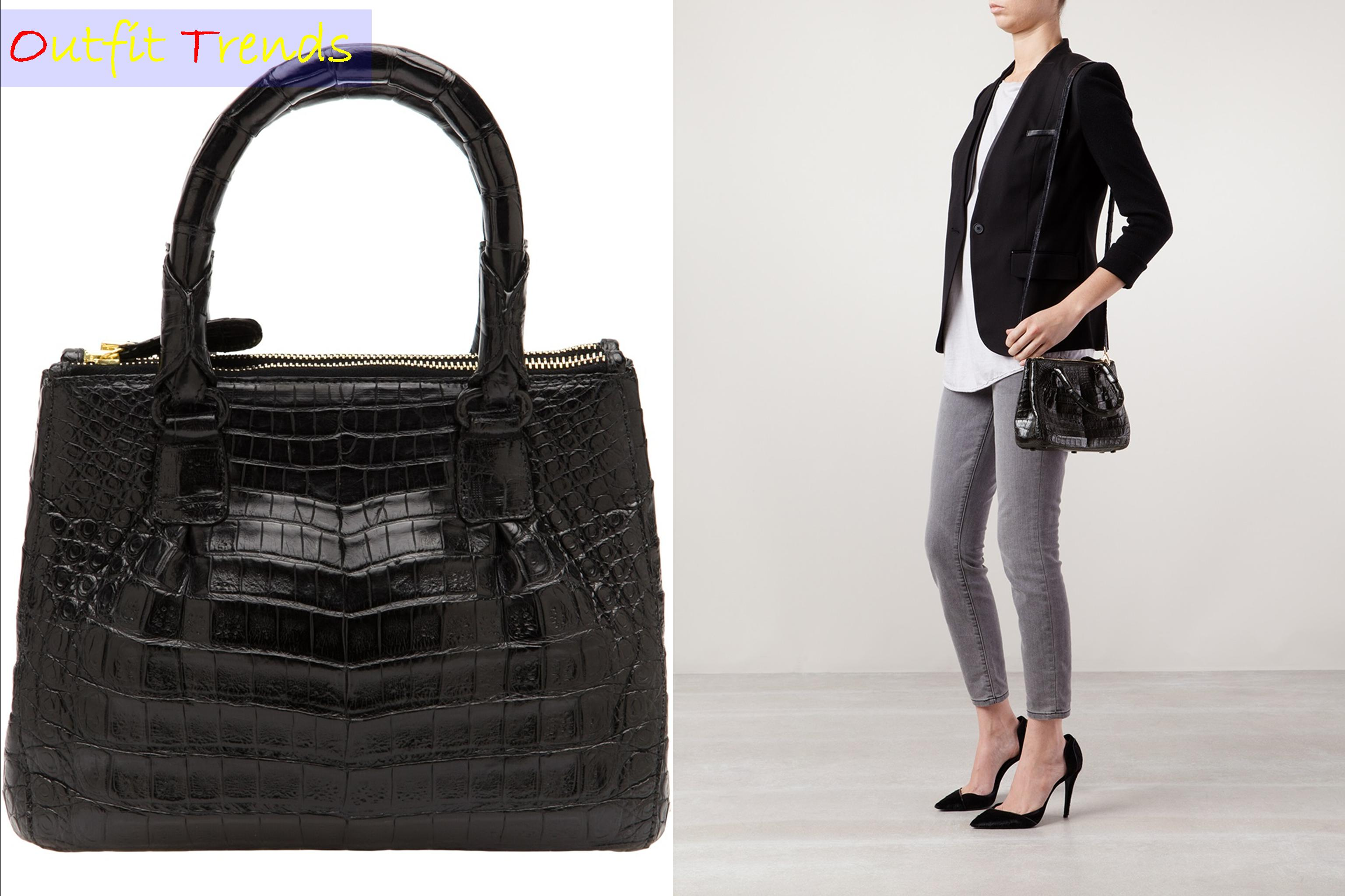 crocodile-leather-tote1 13 Most Fashionable and Stylish Tote Bags for Women