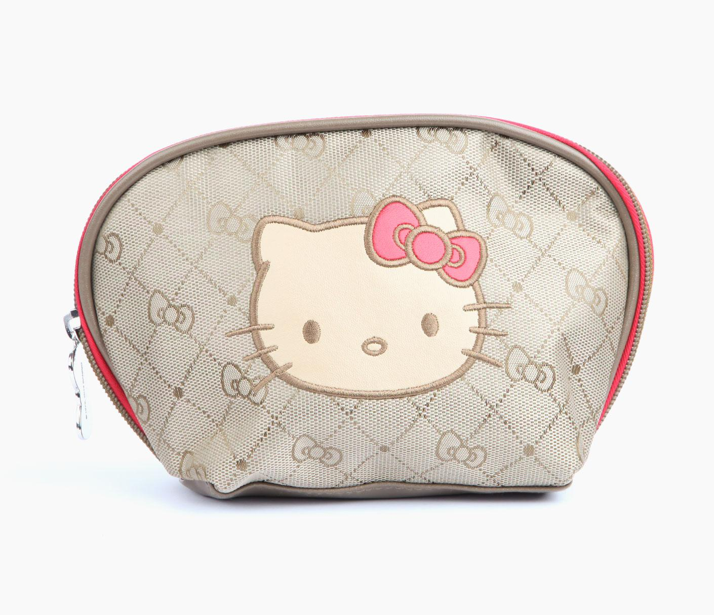 stylish-Hello-Kitty-Cosmetic-Pouch 10 Cute Hello kitty Makeup Bags You must Have