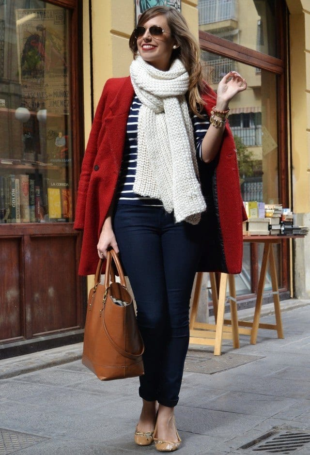 Cute-Infinity-scarves-for-girls Outfits with Scarves-18 Chic Ways to Wear Scarves for Girls