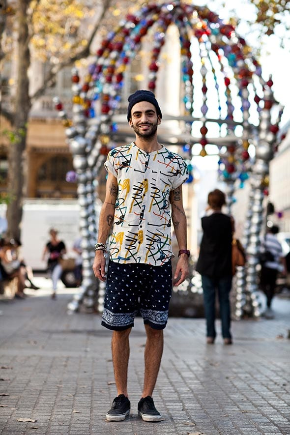 Funky-look-with-Bermudas-for-men 26 Cool and Stylish Bermuda Shorts for Men This Season