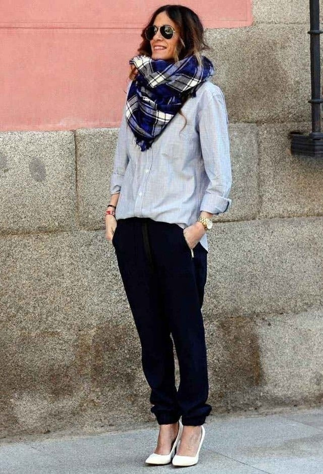 HM-ladies-scarves Outfits with Scarves-18 Chic Ways to Wear Scarves for Girls