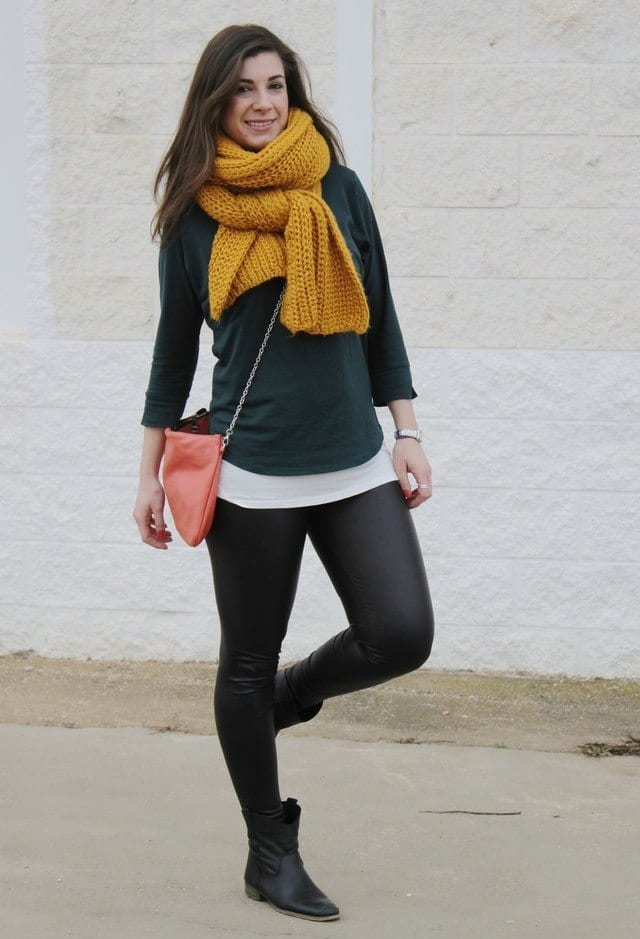 Yellow-scarves-for-women Outfits with Scarves-18 Chic Ways to Wear Scarves for Girls