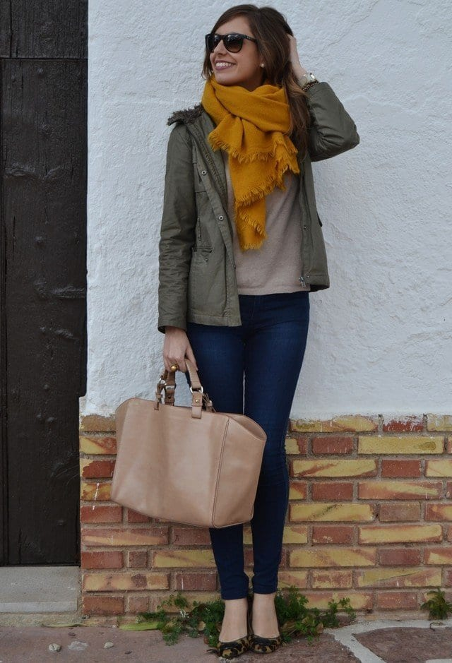 Zara-scarves-women Outfits with Scarves-18 Chic Ways to Wear Scarves for Girls