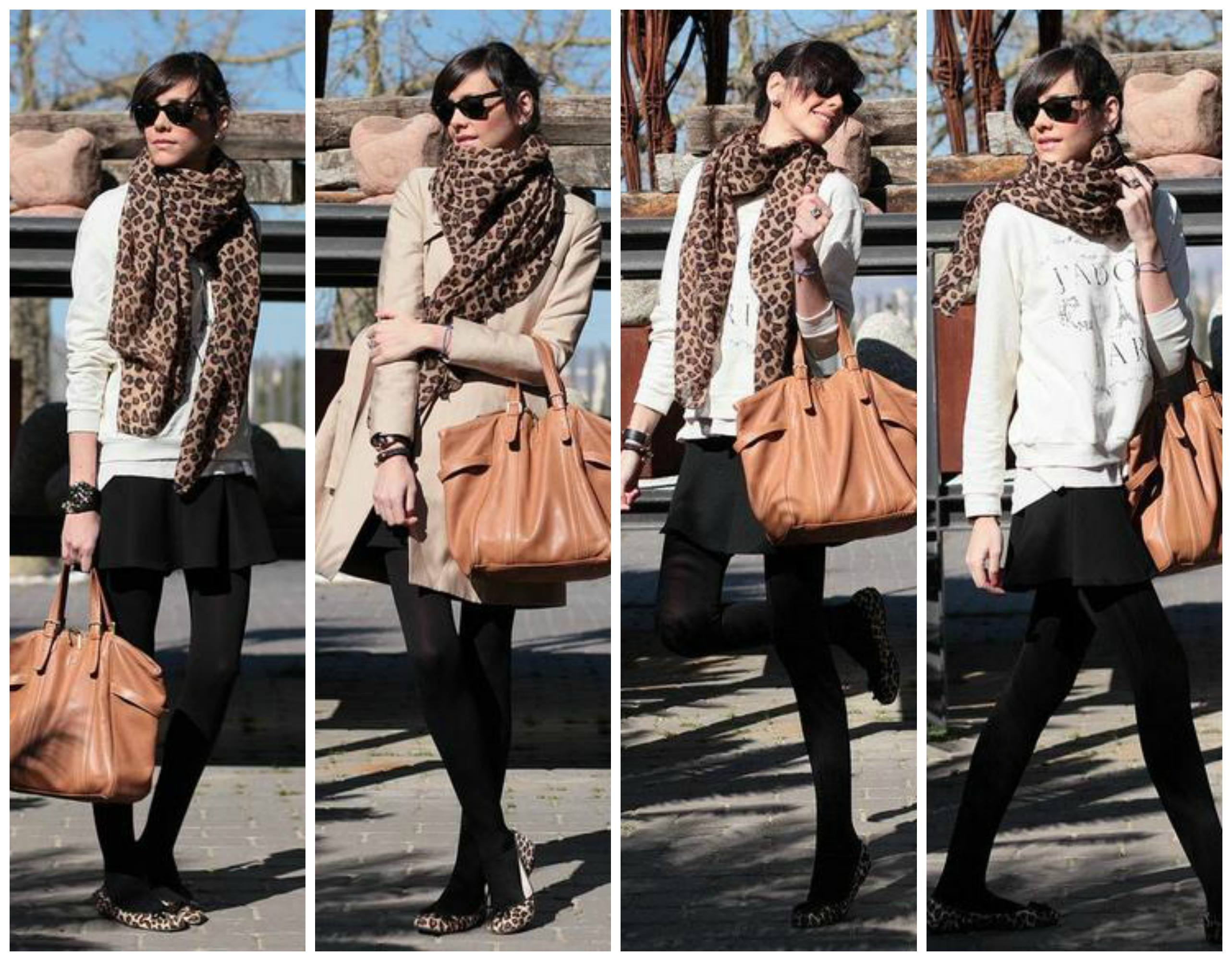 animal-scarf-with-sweatshirt Outfits with Scarves-18 Chic Ways to Wear Scarves for Girls