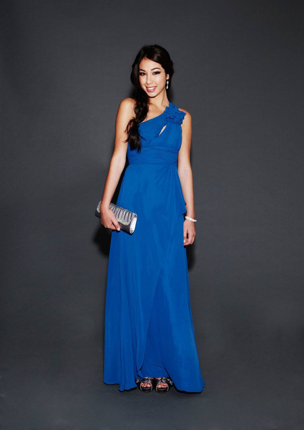 blue-simple-classy 16 Beautiful Evening Dresses for Women this Season
