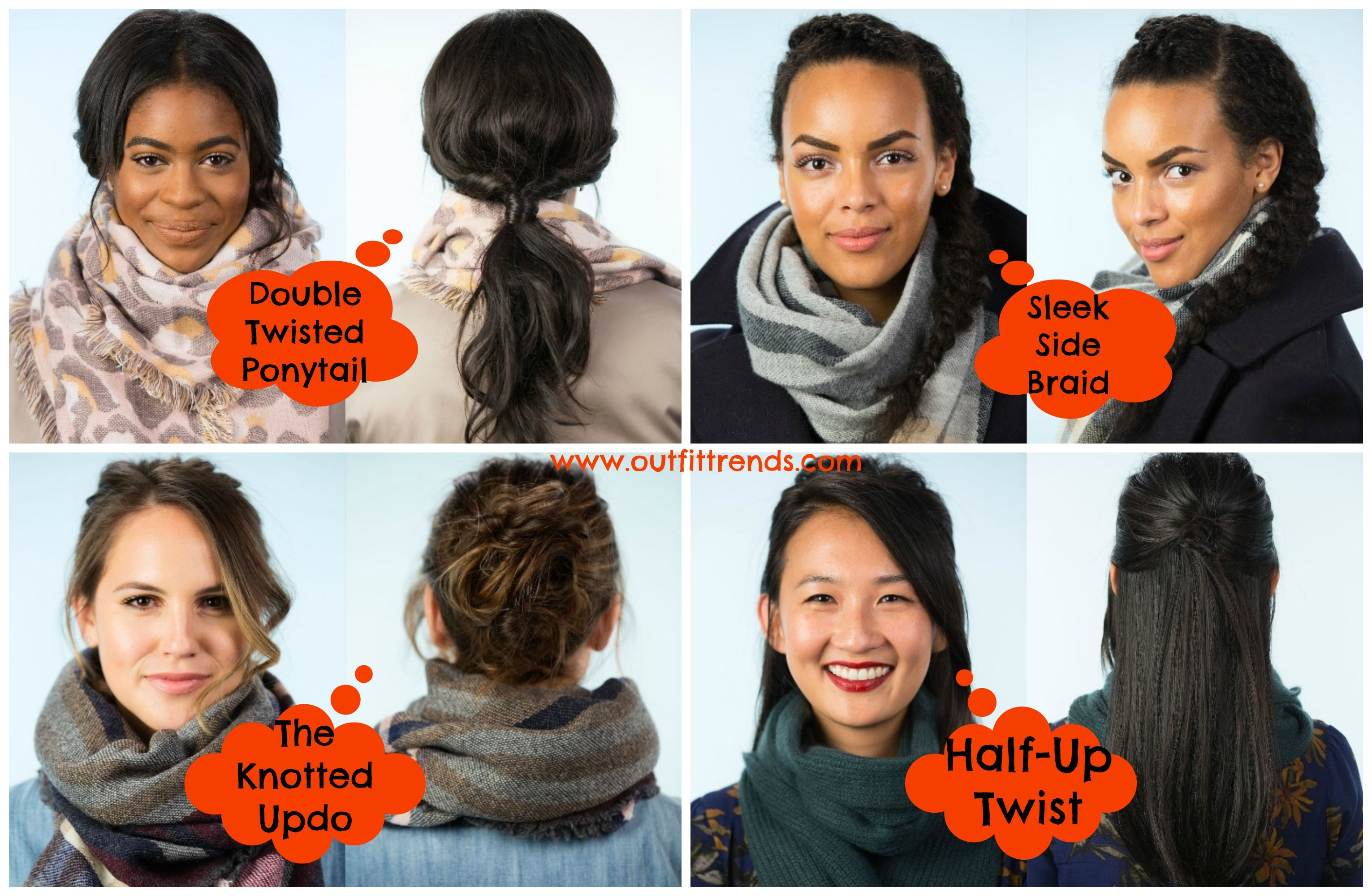 hairstyles-with-scarf Outfits with Scarves-18 Chic Ways to Wear Scarves for Girls