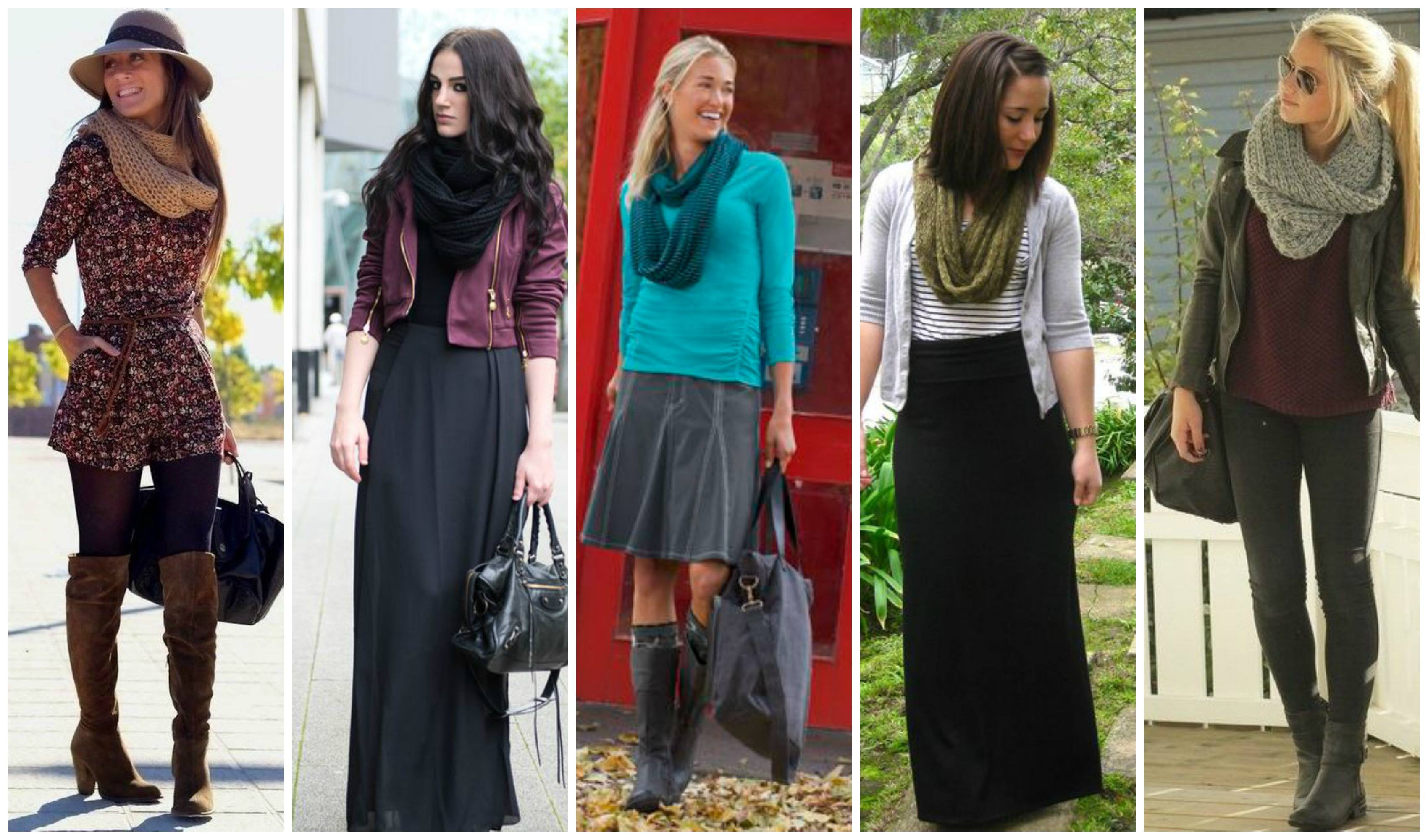 infinity-scarf-outfit-ideas Outfits with Scarves-18 Chic Ways to Wear Scarves for Girls