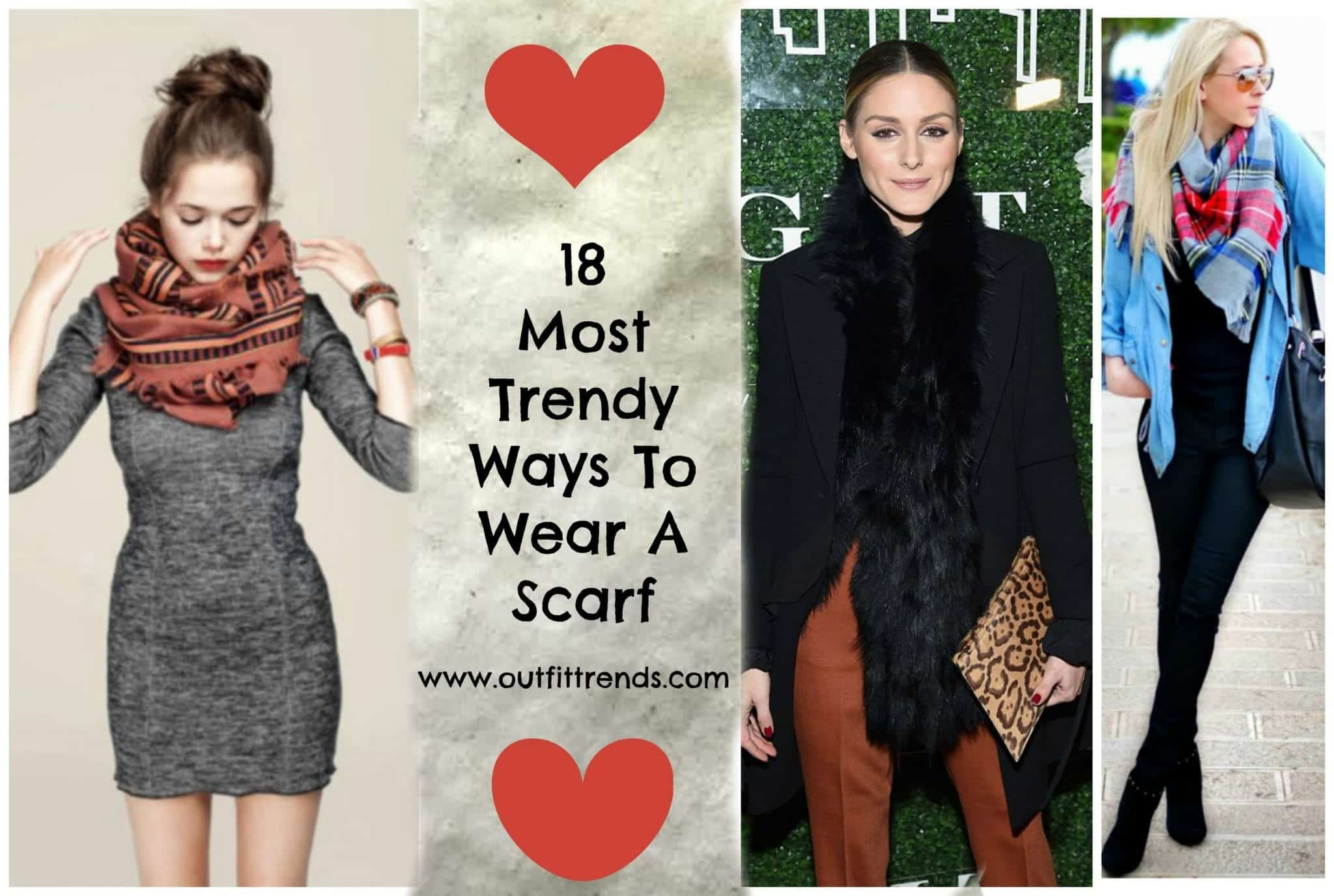 latest-ways-to-wear-a-scarf-for-women Outfits with Scarves-18 Chic Ways to Wear Scarves for Girls