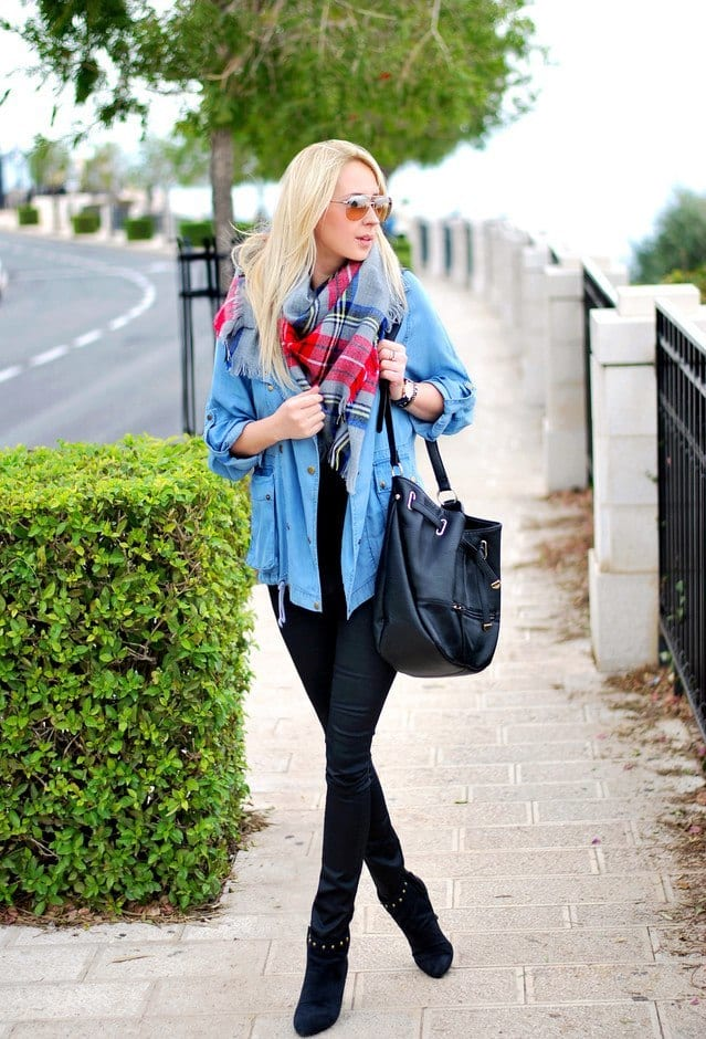 scarf-wearing-ideas-for-women Outfits with Scarves-18 Chic Ways to Wear Scarves for Girls