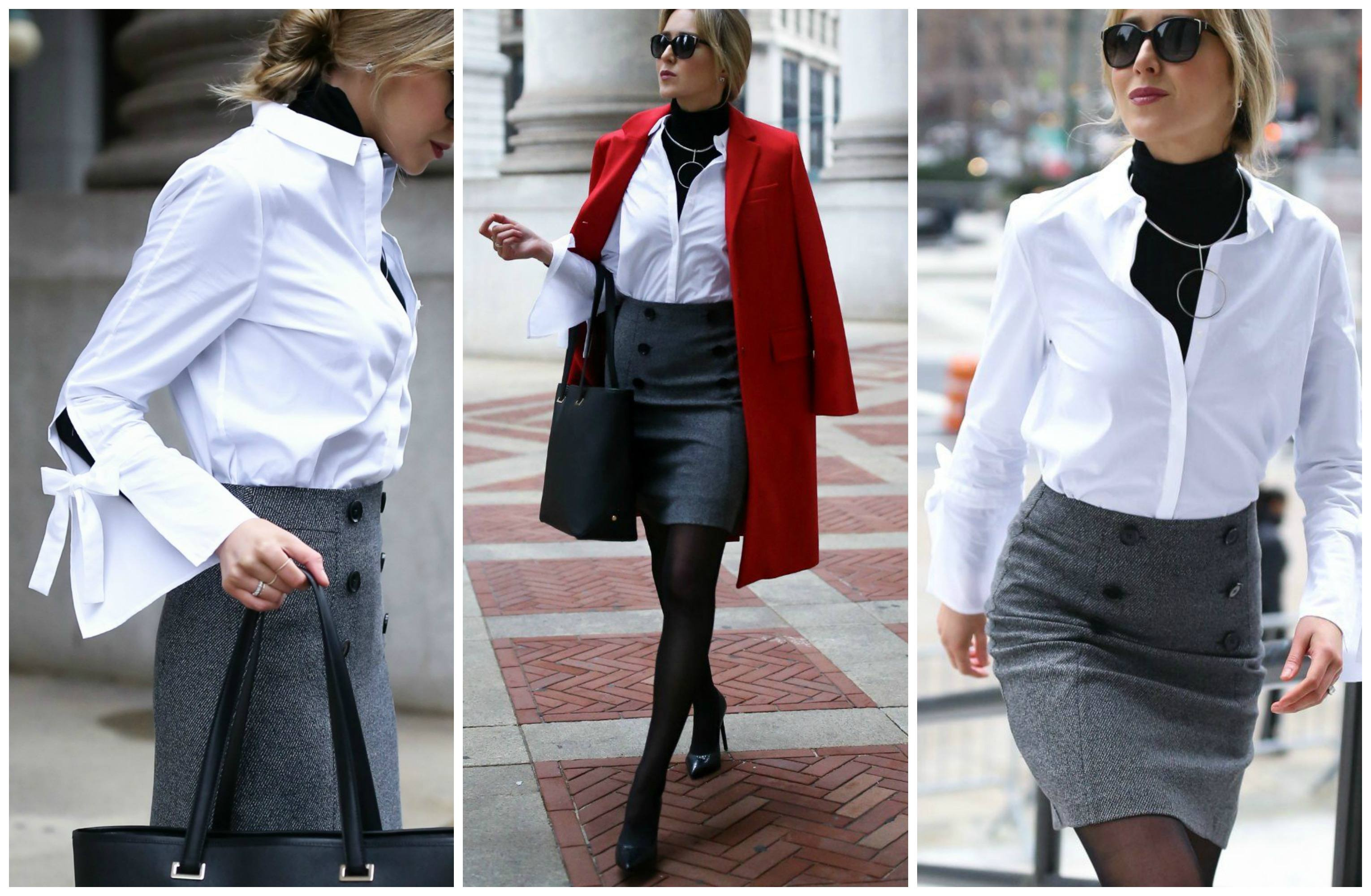 statement-sleeves-outfit-for-work 22 Elegant WorkWear Outfits Combinations for Women