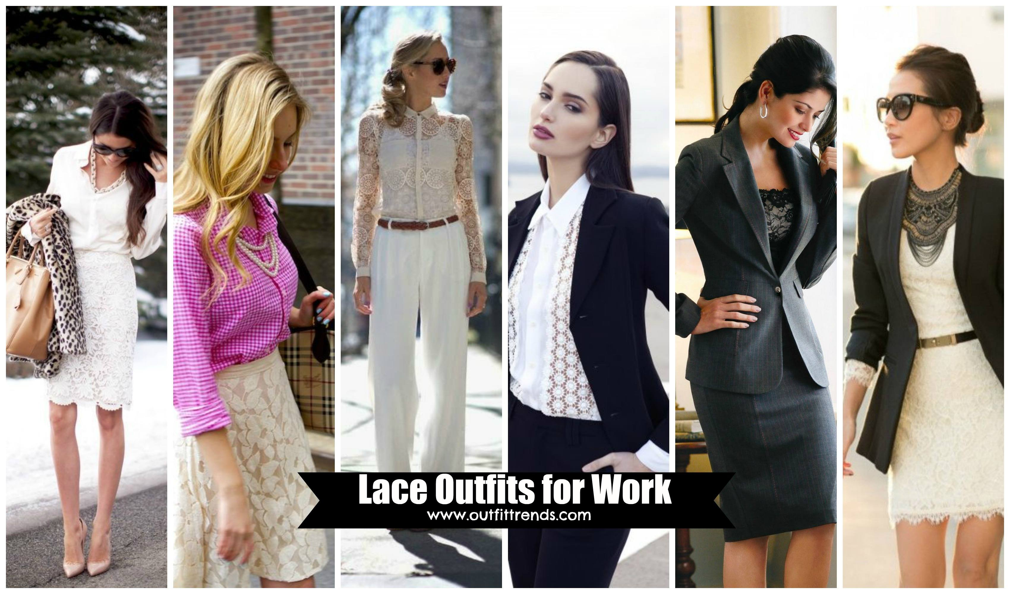 women-lace-oufits-for-work 22 Elegant WorkWear Outfits Combinations for Women