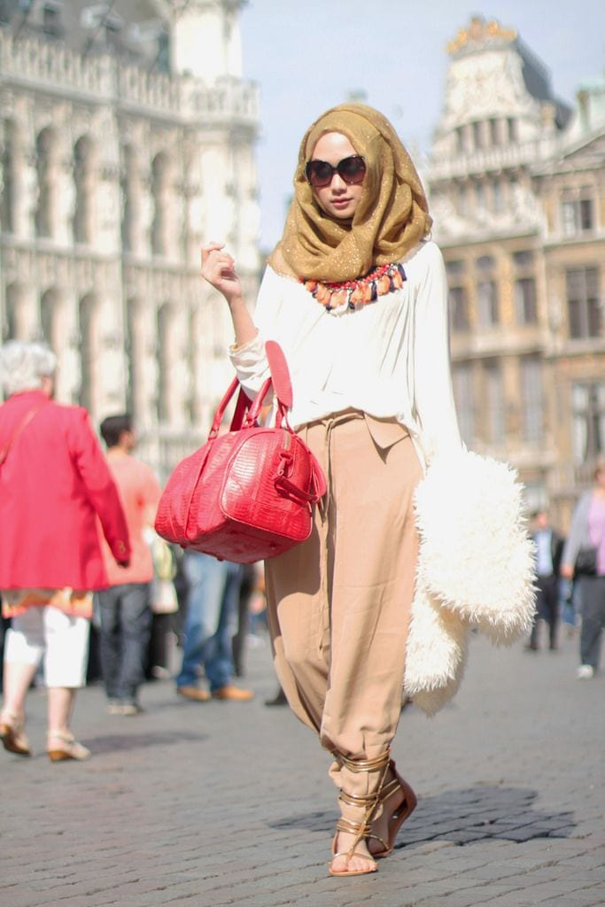 Dian-Pelangis-Hijab-Street-Style 30 Modern Ways to Wear Hijab - Hijab Fashion Ideas