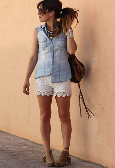 Lace Shorts Fashion Ideas