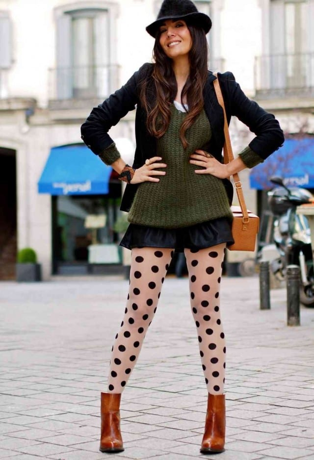 Polka Dot Leggings Fashion