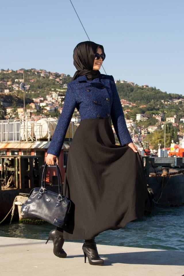 Stylish-looks-with-Hijab 30 Modern Ways to Wear Hijab - Hijab Fashion Ideas