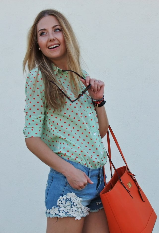 Trendy Polka Dot Tops
