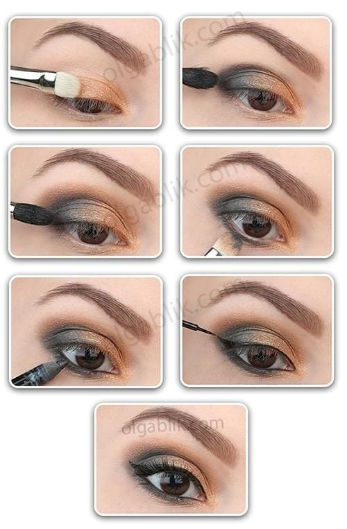 Black and Gold Smokey Eye Tutorial