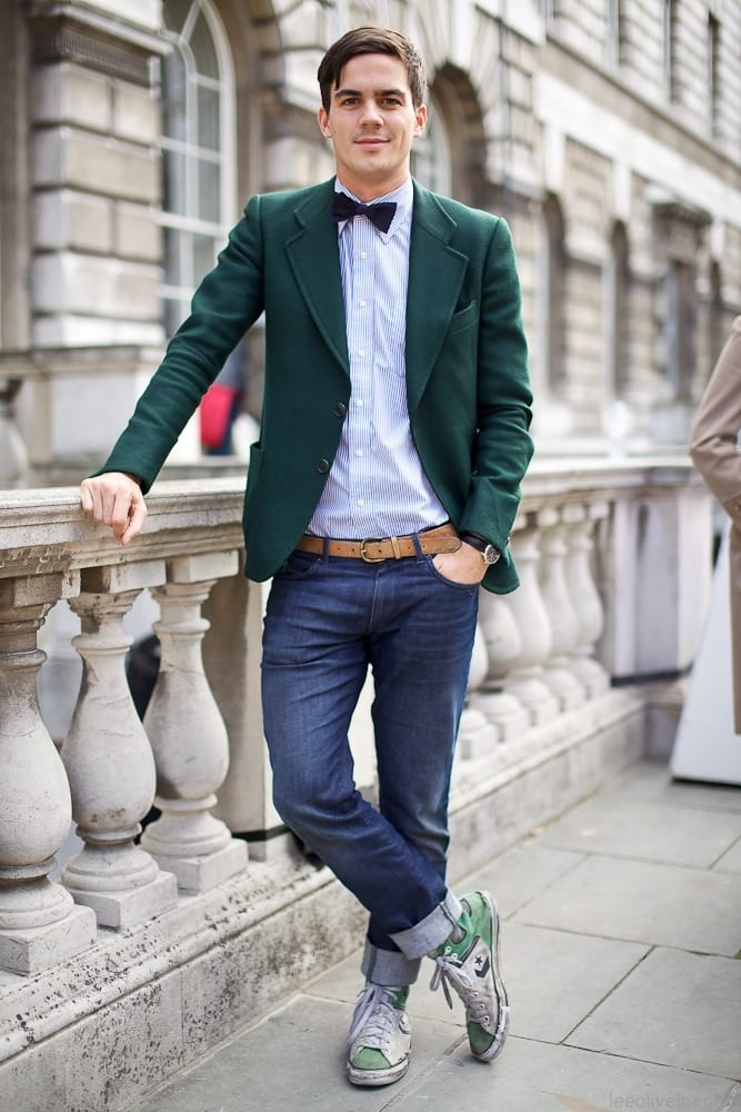 Bow tie with casual outfits