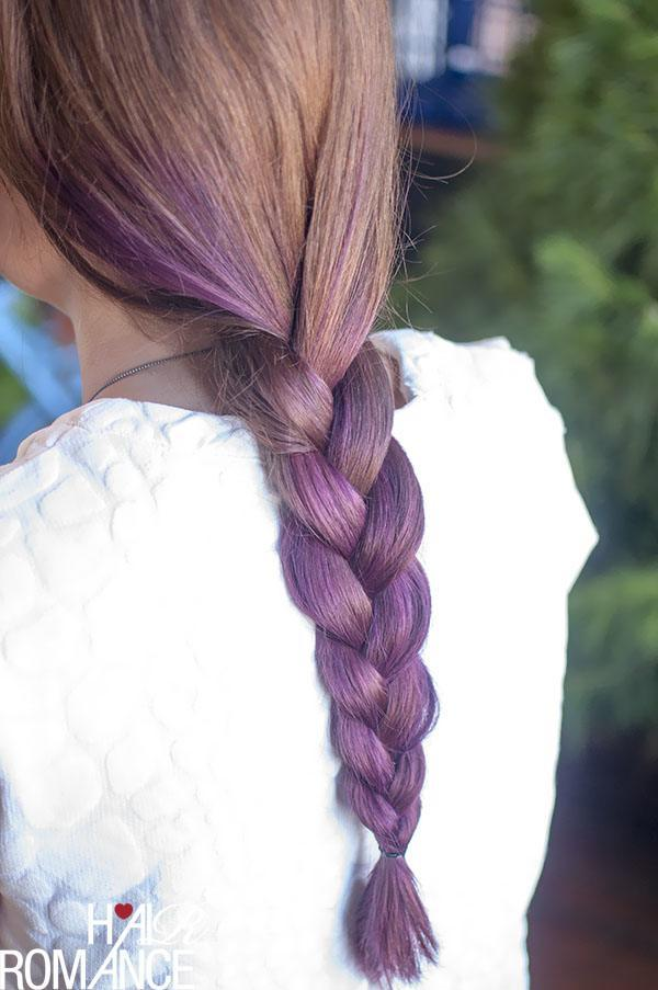 Braid purple hair