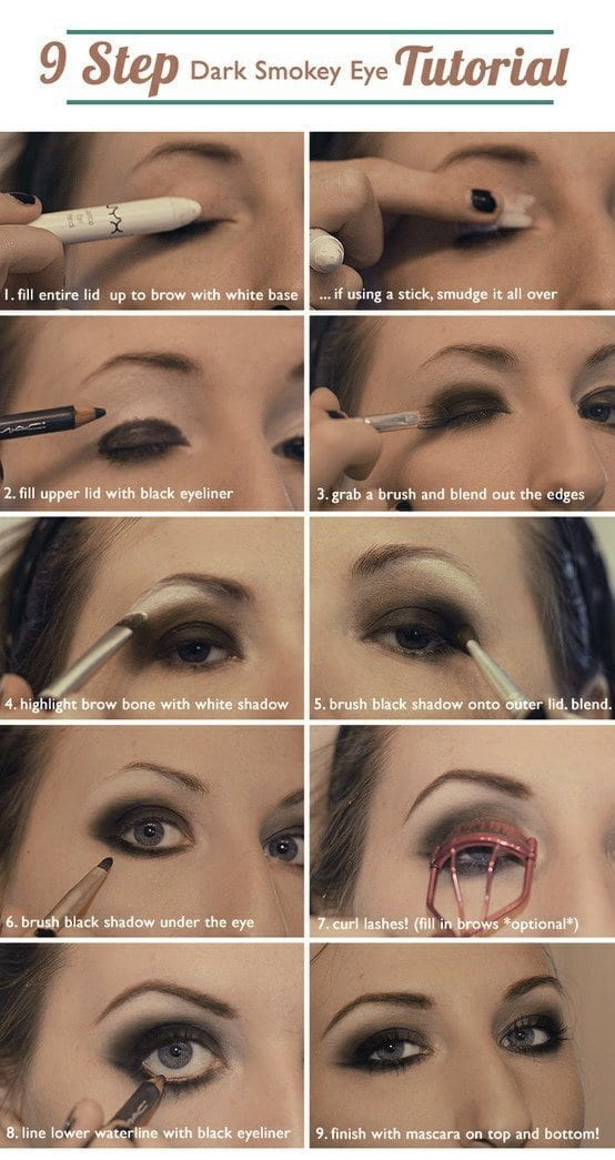 Dark Smokey Eye makeup