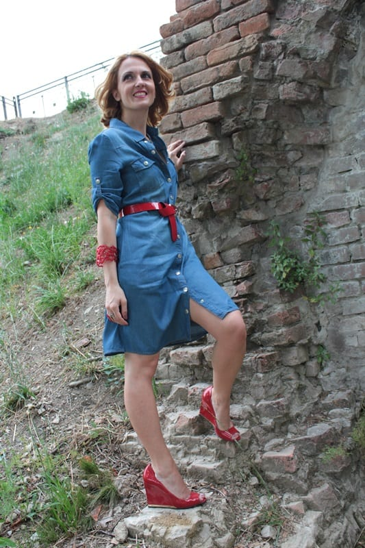 Denim dresses fashion