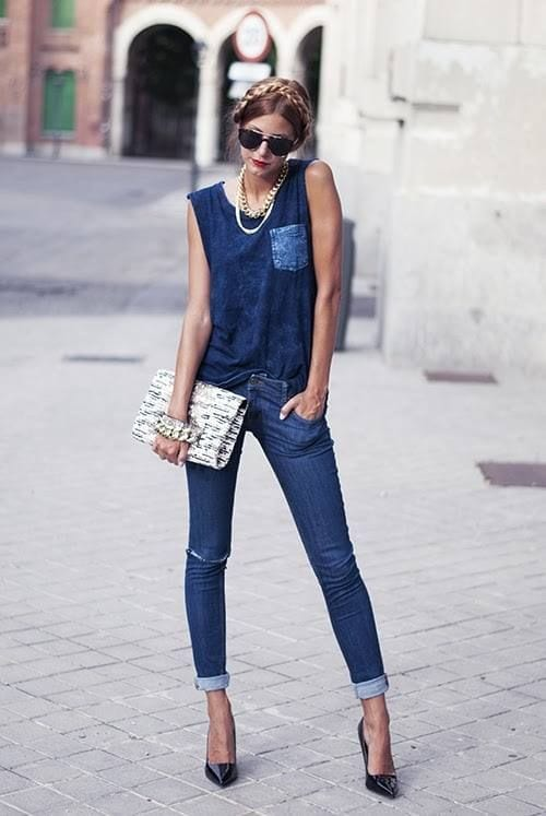 Denim-on-Denim-outfits 32 Beautiful Denim Dress to Inspire your daily Fashion
