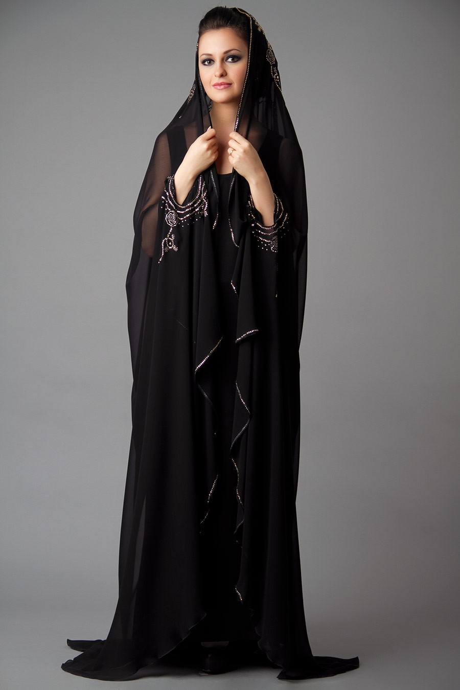 Designer-Embroidered-Abayas1 15 Most Popular Dubai Style embroidered Abayas