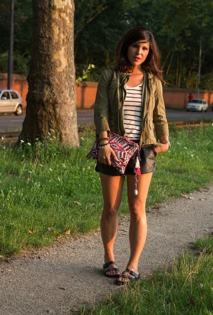 Designers-leather-shorts Cute Leather shorts outfits - 30 Ways to Wear Leather Shorts