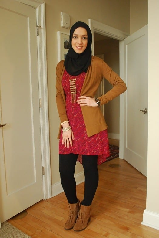 Hijab with black jeans