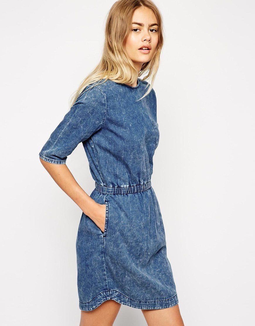 Latest denim dresses