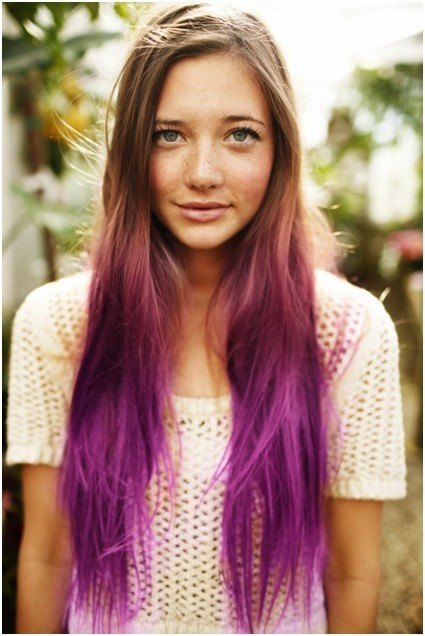 Long purple Hairs