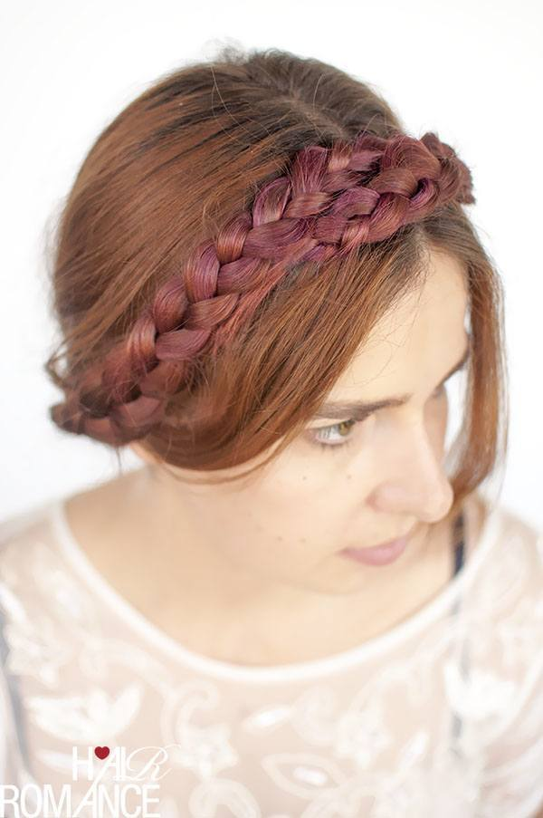 Milkmaid Purple braid hairstyle